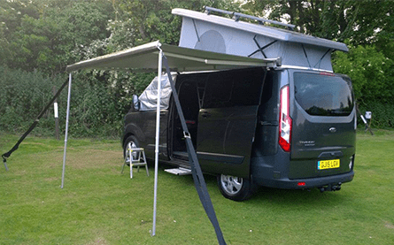 2.6m Roll Out Awning Black (+£800)