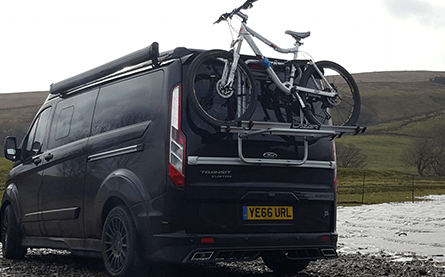 Bike Rack Tailgate Mounted – 2 bikes (+£500)