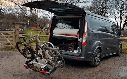 Thule tiltable bike rack (POA)